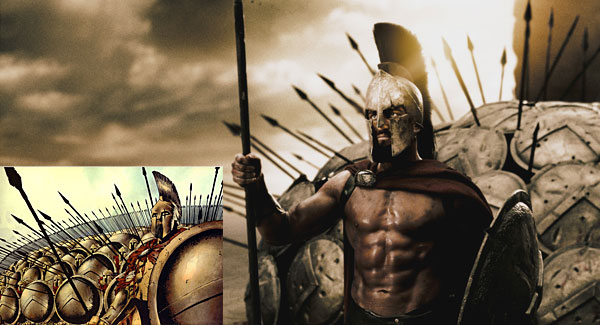 Movie: 300 - Graphic Novel Compared to the movie